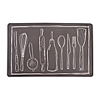 Utensils Chef Step Kitchen Cushion Mat in Black