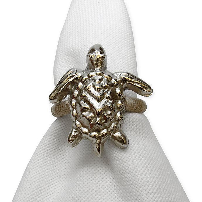 Alternate image 1 for Turtle Motif Metal Napkin Ring
