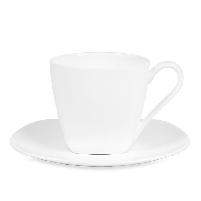Alternate image 1 for Nevaeh White® by Fitz and Floyd® Soft Square Cup and Saucer
