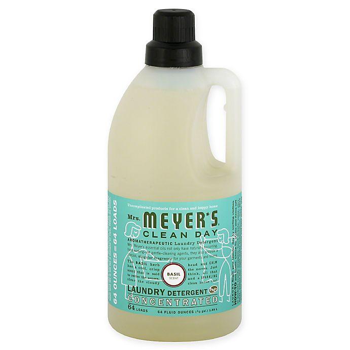 Alternate image 1 for Mrs. Meyer's® 64 oz. Basil Laundry Detergent