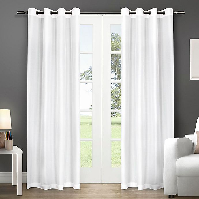Alternate image 1 for Chatra 96-Inch Grommet Top Window Curtain Panel Pair in Winter