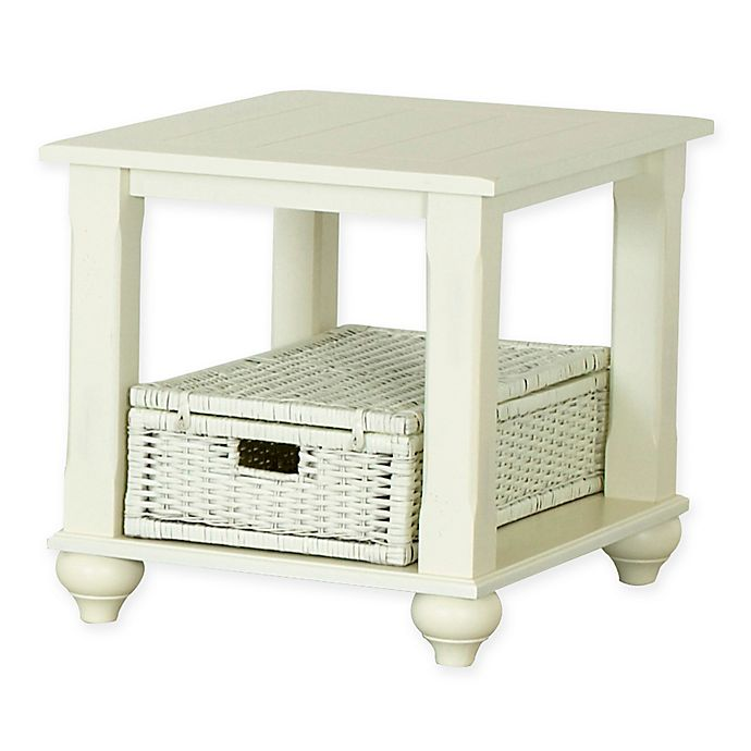 Alternate image 1 for Treasures End Table in White