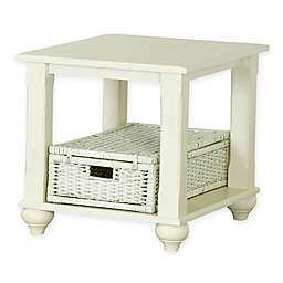 Treasures End Table in White