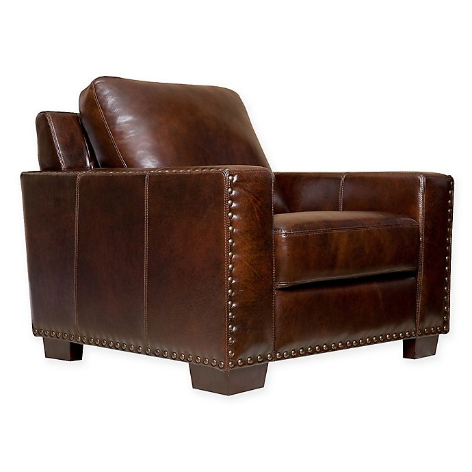 Alternate image 1 for Abbyson Living® Beverly Leather Arm Chair