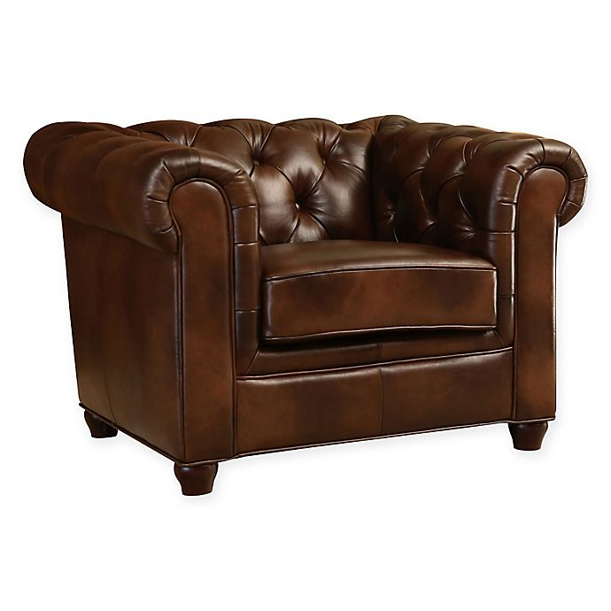 Alternate image 1 for Abbyson Living® Arcadian Leather Arm Chair