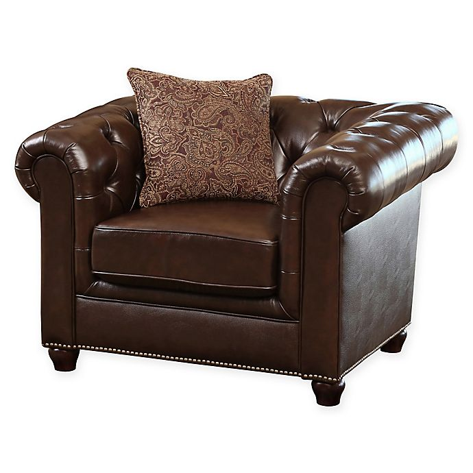 Alternate image 1 for Abbyson Living® Berkley Leather Arm Chair