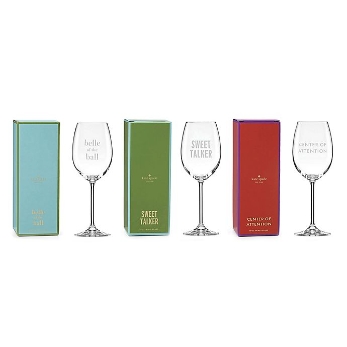 Kate Spade New York Uncorked Wine Glass Collection Bed
