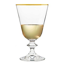 Gold Banded All Purpose Wine Glass