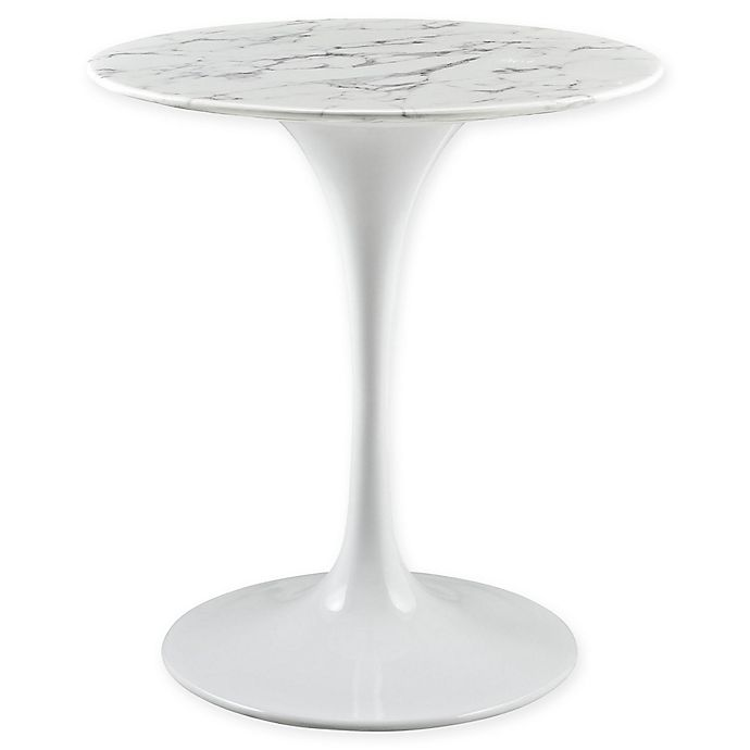 Alternate image 1 for Modway Lippa Marble Dining Table in White