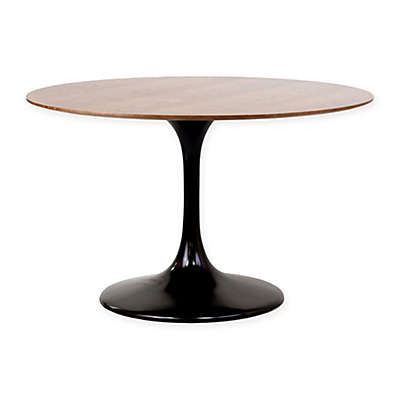 Modway Round Top Dining Table in Walnut