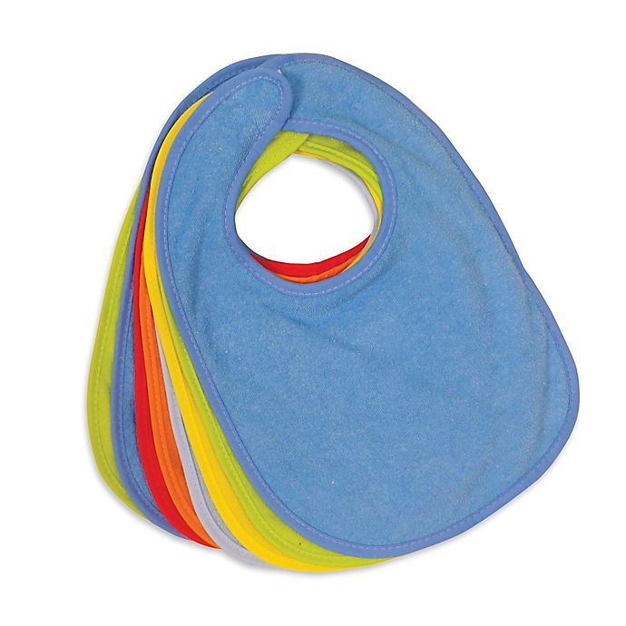 Alternate image 1 for Neat Solutions® 8-Pack Boy's Terry Bibs in Multi