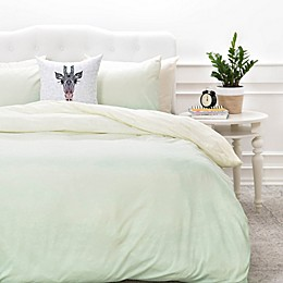 Deny  Designs Social Proper Mint Ombre Duvet Cover in Mint