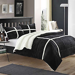 Chic Home Camille Comforter Set in Black