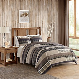 Woolrich® Winter Plains Reversible Quilt Set in Taupe