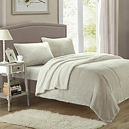 Chic Home Evelyn 3-Piece Sherpa-Lined Blanket Set