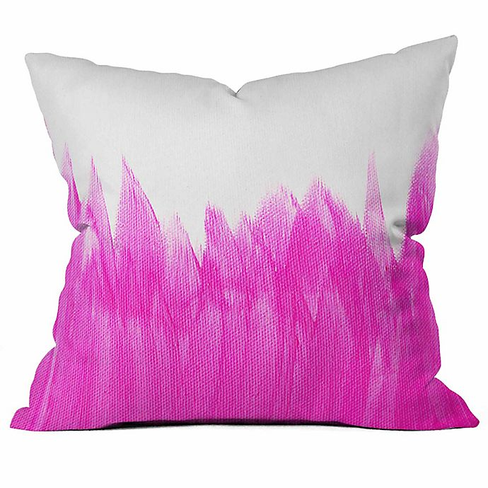 Alternate image 1 for Deny  Designs Allyson Johnson Brushed Square Throw Pillow in Pink