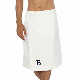 Linum Home Textiles Men's Turkish Cotton Terry Body Wrap in White
