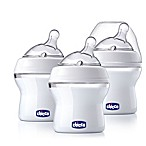 Chicco® NaturalFit® 3-Pack 0M + Wide Neck Angled Slow Flow Bottle with Bonus Straight Nipple