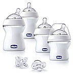 Chicco® NaturalFit® 6-Piece 0M + Wide Neck Slow Flow Bottle Baby's First Gift Set in Clear