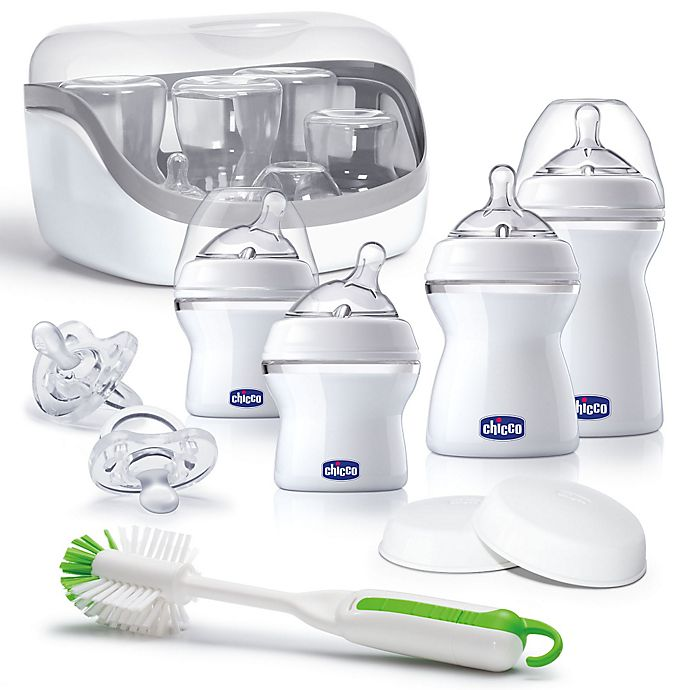 Alternate image 1 for Chicco® NaturalFit® 10-Piece All You Need Bottle Starter Set in Clear