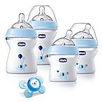 Chicco® NaturalFit® 5-Piece 0M + Wide Neck Slow Flow Bottle Gift Set in Blue Deco