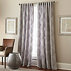 Talia 84-Inch Rod Pocket/Back Tab Window Curtain Panel in Grey