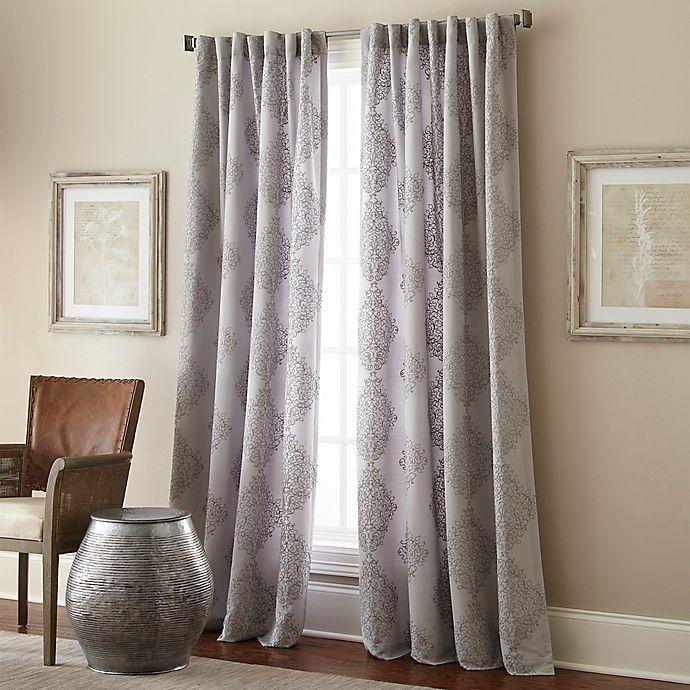 Alternate image 1 for Talia 84-Inch Rod Pocket/Back Tab Window Curtain Panel in Grey