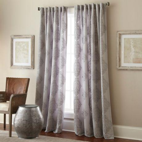 Talia Rod Pocket Back Tab Window Curtain Panel Bed Bath