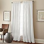 Talia 84-Inch Rod Pocket/Back Tab Window Curtain Panel in White