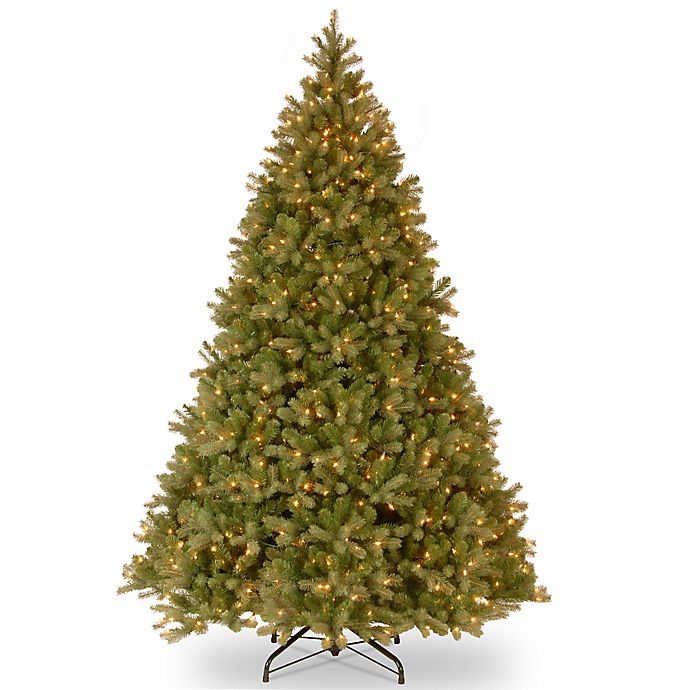 Alternate image 1 for National Tree Company 10-Foot Downswept Douglas Fir Pre-Lit Christmas Tree with 1200 Clear Lights