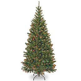 National Tree Company 7-Foot Aspen Spruce Christmas Tree with Multicolor Lights