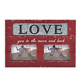 Double Block 4-Inch x 6-Inch Love Frame with Metal Plate