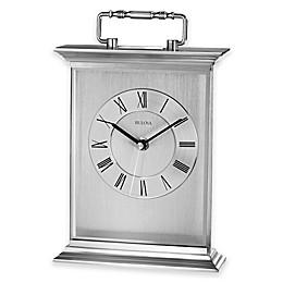 Bulova Newport Table Clock in Aluminum