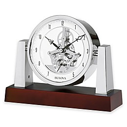 Bulova Largo Table Clock in Chrome