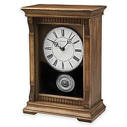 Bulova Warrick III Chime Mantel Clock in Oak