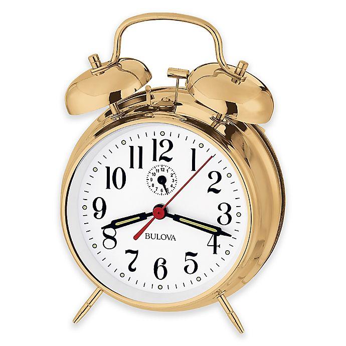 Alternate image 1 for Bulova Bellman II Table Clock in Brass