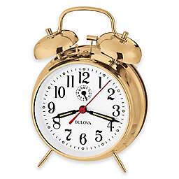 Bulova Bellman II Table Clock in Brass