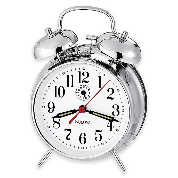 Alternate image 1 for Bulova Bellman II Table Clock in Polished Chrome
