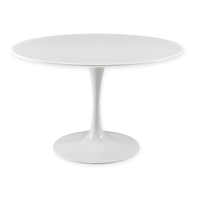 Alternate image 1 for Modway Lippa Round Wood Top Dining Table in White