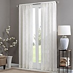 Madison Park Irina 84-Inch Rod Pocket Sheer Window Curtain Panel in White