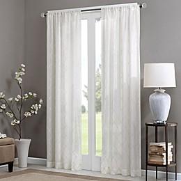Madison Park Irina Rod Pocket Sheer Window Curtain Panel