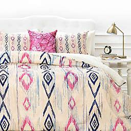 Deny Designs Rosebudstudio Boho Mama Duvet Cover in Pink/Navy