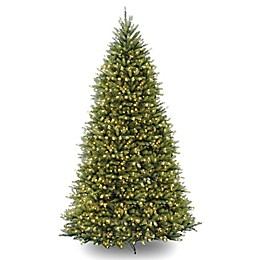 National Tree Company 12-Foot Dunhill Fir Pre-Lit Christmas Tree with Clear Lights