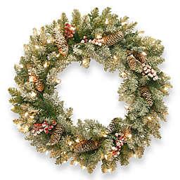 National Tree Dunhill 30-Inch Fir Pre-Lit Wreath