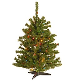 National Tree 3-Foot Eastern Spruce Christmas Tree with Multi-Colored Lights