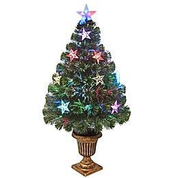 National Tree Company 36-Inch Fiber Optic Evergreen Tree w/Star Lights