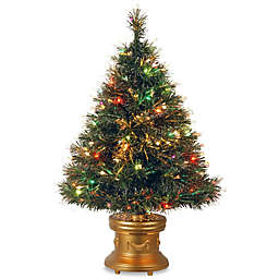 National Tree Company 3-Foot Fiber Optic Ice Pre-Lit Christmas Tree