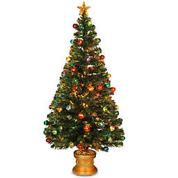 National Tree 5-Foot Fiber Optic Fireworks Christmas Tree with Ball Ornaments