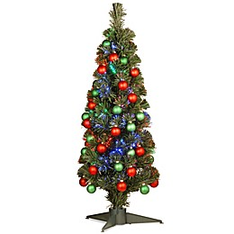 National Tree 3-Foot Fiber Optics Fireworks Ornament Tree
