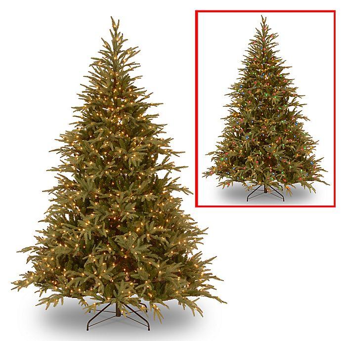Alternate image 1 for National Tree Frasier Grande Pre-Lit Christmas Tree with Color-Changing Lights